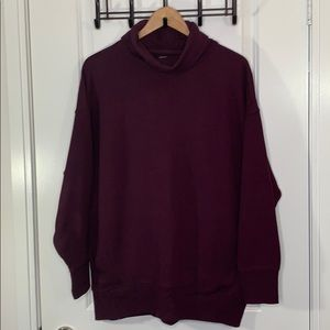 Aerie Medium Cozy Purple Sweater with Pockets